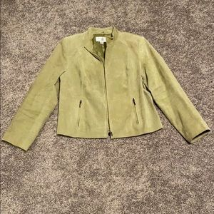 Green Genuine Suede Leather Jacket